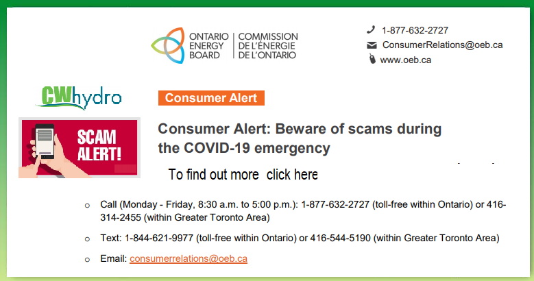 Consumer Alert: Beware of scams during the COVID-19 emergency