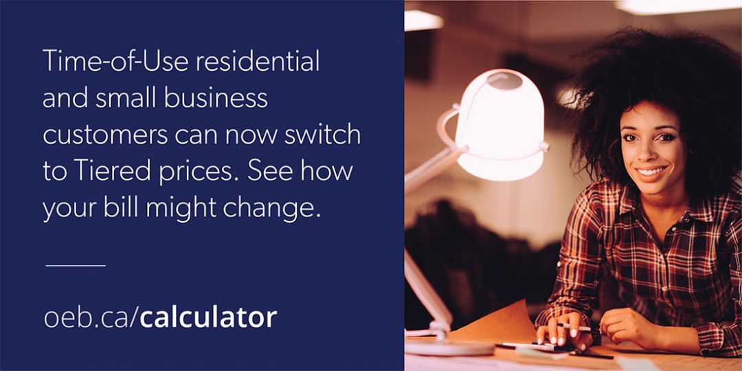 Time-of-Use vs Tiered, Customer Choice is coming on your electricity rate on November 1